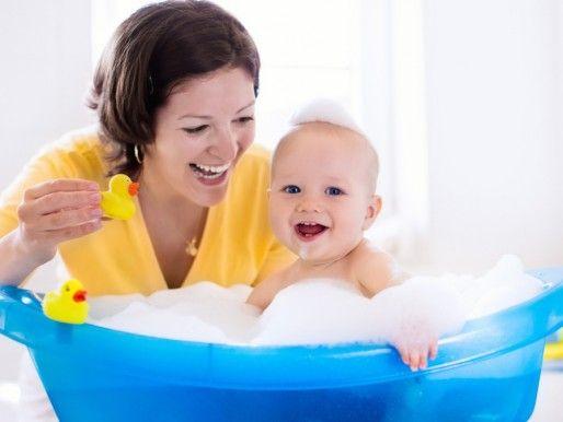 O banho do bebé