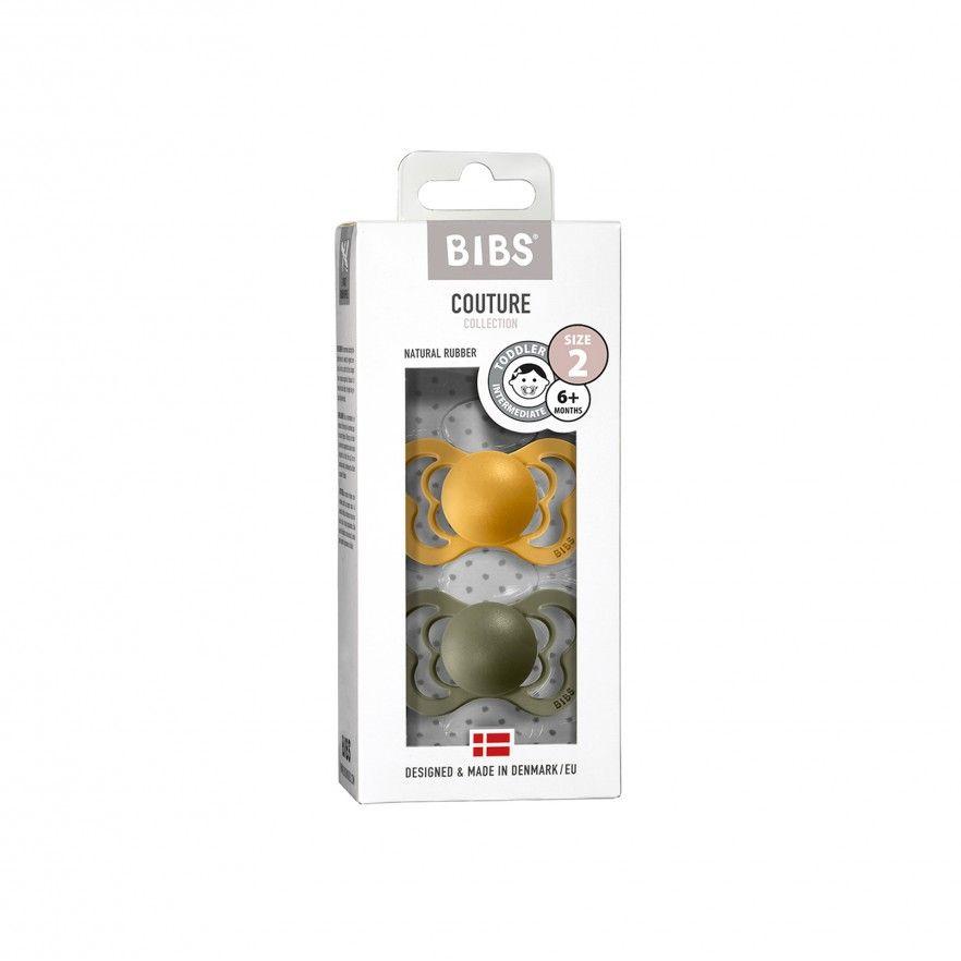 CHUPETAS BIBS COUTURE LATEX HONEY BEE/OLIVE