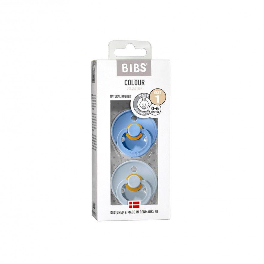 CHUPETAS BIBS COLOURS SKY BLUE/BABY BLUE